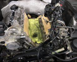 ベンツオイル漏れ修理