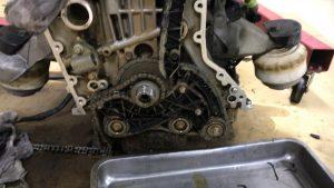 ベンツエンジン修理