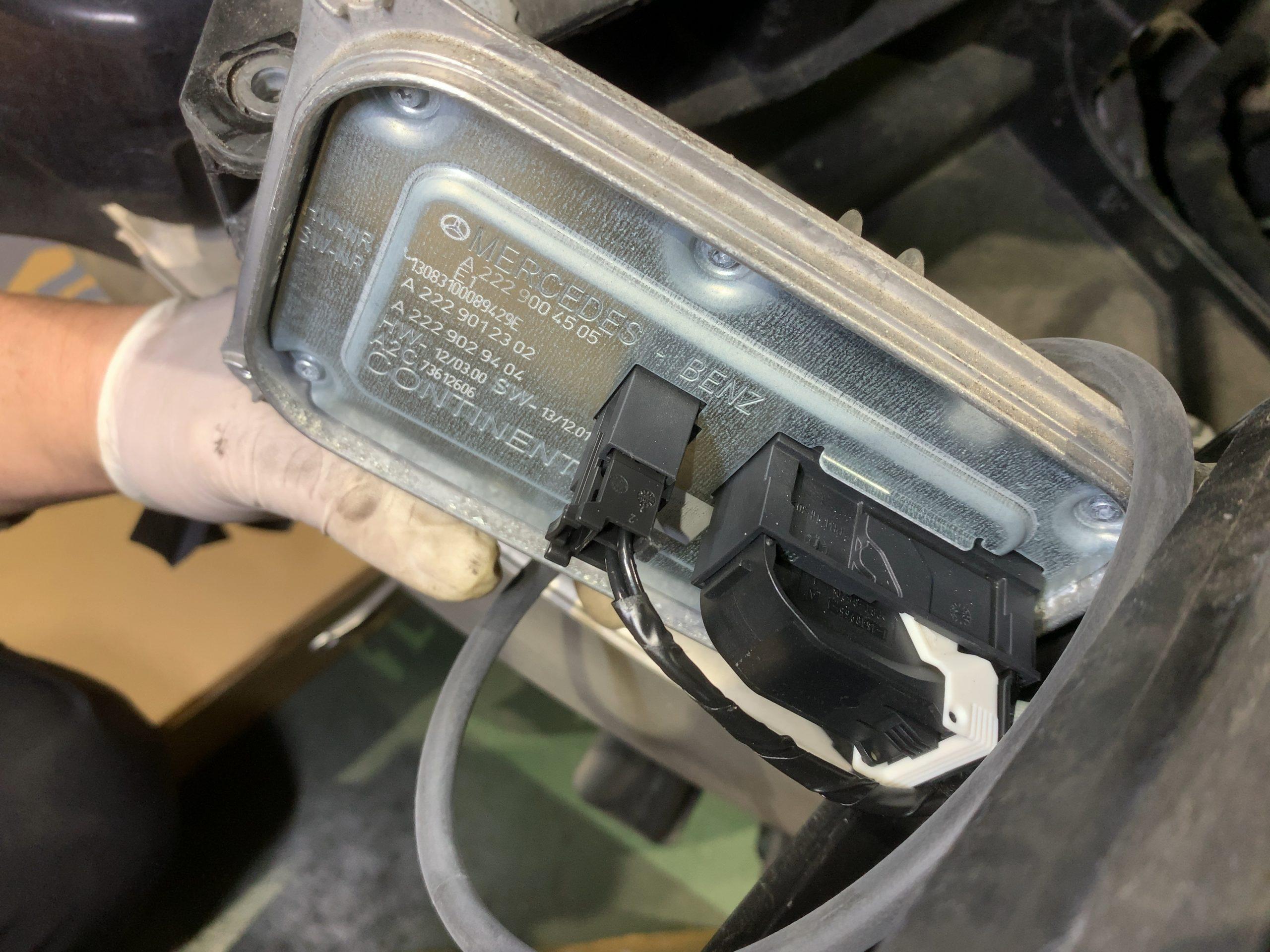 W222ヘッドライト故障